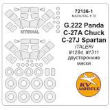 Маска для модели самолетов G.222 Panda/C-27A Chuck/C-27J Spartan 1:72