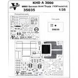 Фототравление: набор деталировки для KHD A3000 1:35