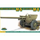 Американская 3-дюймовая протитанковая пушка на лафете M6 (поздний вариант) 1:72