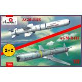 Ракеты AGM-84E и AGM-84H на тележках 1:72