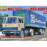 Седельный тягач МАЗ-5432 с полуприцепом МАЗ-93971 1:43