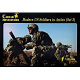 Современные американские солдаты в действии, набор 2 1:72