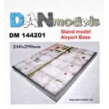 Подставка для моделей. Тема: Бетонка. Аэропорт (240x290 мм) 1:144
