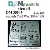 Фототравление: Трафарет - гражданская война в Испании 1936-39 гг. 1:35