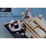 Экипаж тягача Sd.Kfz. 11, набор 1 (смола) 1:35
