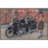 BMW R12 with sidecar, civilian version 1:35