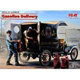Американская машина доставки бензина Ford Model T 1912 с грузчиками 1:24