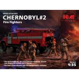 Чернобыль # 2. Пожарные (АЦ-40-137А, 4 фигуры и подставка для диорамы с фоном)