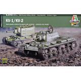Советские танки КВ-1/КВ-2 (две модели в наборе)