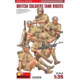 Набор фигурок Miniart Британские солдаты на броне. (Специальное издание)