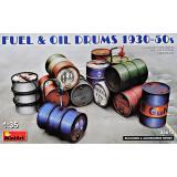 Металлические бочки для топлива и масла 1930-50-х годов 1:35