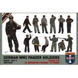 Немецкий танковый экипаж, набор 2 1:72