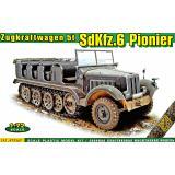 Полугусеничный артиллерийский тягач SdKfz.6 с тяговым усилием 5 тонн 1:72