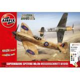 Подарочный набор с моделями самолетов Supermarine Spitfire MkVb и Messerschmitt BF109E 1:48