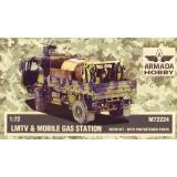 Грузовой автомобиль LMTV c мобильной АЗС 1:72