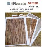 Материал для диорам из бумаги: деревянные полы, паркет, 6 шт, 180x125 мм 1:35