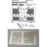 Фототравление: Надмоторные решетки для танка
