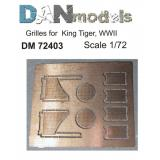 Фототравление: Надмоторные решетки для танка Королевский Тигр, 2 МВ 1:72