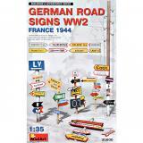 Немецкие дорожные знаки II мировой войны (Франция, 1944) 1:35
