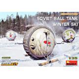 Советский шаровой танк с зимними лыжами. Комплект интерьера 1:35
