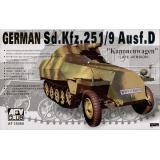 Sdkfz251 D/9 75m/m GUN HALF TRUCK 1:35
