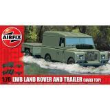Автомобиль LWB Land Rover с прицепом 1:76
