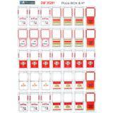 Материал для диорам из бумаги: упаковка для пиццы, попкорна и китайской еды 1:35