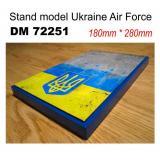 Подставка для моделей авиации. Тема: АТО, Украина (280x180 мм)