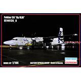 Пассажирський самолет Fokker 50 fly VLM 1:144