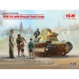 Легкий танк сопровождения FCM 36 с экипажем