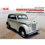 Немецкий штатный автомобиль Kadett K38 Cabriolimousine, 2МВ 1:35