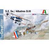 Бипланы S.E.5a и Albatros D.III 1:72