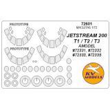 Маска для модели самолетов Jetstream 200, T1/T2/T3 1:72