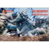 Пехота США с 37-мм оружием 1:72