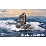 Подводная лодка USS Albacore (AGSS-569) 1:350