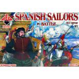 Испанские моряки в битве 16-17 века, набор 2 1:72