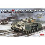 Немецкий танк Pz.Kpfw.IV Ausf.J поздних выпусков/Pz.Beob.Wg.IV Ausf.J с рабочими траками