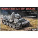 Немецкий танк Pz. Kpfw. VI Ausf. C/B 2 in 1 (VK36.01) 1:35