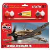 Подарочный набор с моделью самолета Curtiss P40B Warhawk 1:72