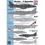 Декаль: Самолеты Харриер одно&двухместные II генерации (4 варианта) 1:72