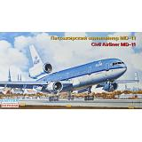 Пассажирский авиалайнер MD-11, KLM 1:144