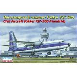 Пассажирский самолет Fokker 27-500 1:144
