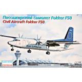 Пассажирський самолет Fokker 50 Team Lufthansa 1:144