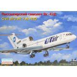 Пассажирский самолет Як-42Д 1:144