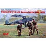 Bücker Bü 131D с германскими кадетами (1939-1945 г.)