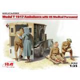 Санитарный автомобиль: Модель Т 1917г. с медицинским персоналом США 1:35