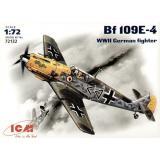 Немецкий истребитель Messerchmitt Bf-109 E4 1:72