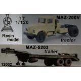 Грузовик МАЗ-200В с прицепом МАЗ-5203