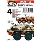 Набор акриловых красок AMMO A-MIG-7104: Современная немецкая техника в Афганистане