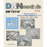 Маска для модели самолета C-47/DC-3/Dakota (Italeri) 1:72